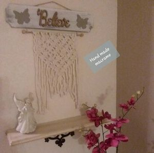 Other - 💞 ✔✔SOLD✔MACRAME/WOODEN BELIEVE HOME DECO